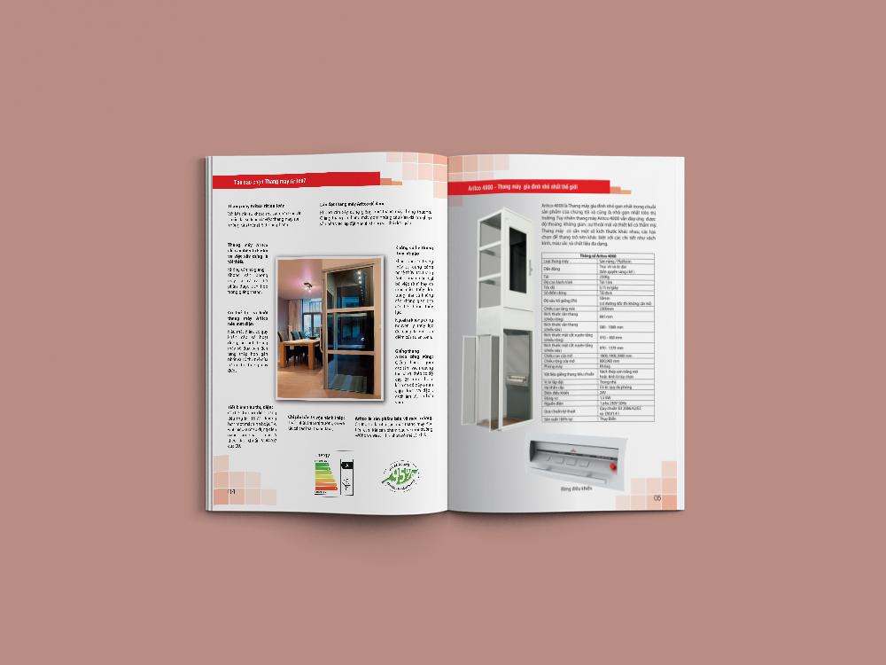 Công ty in Nhanh Hà Nội chuyên: in catalogue số lượng ít Aritco8