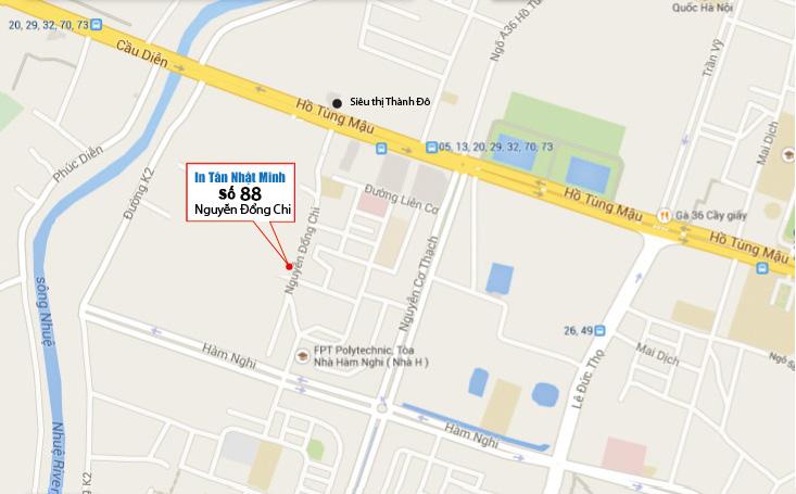 Địa chỉ công ty in Tân Nhật Minh